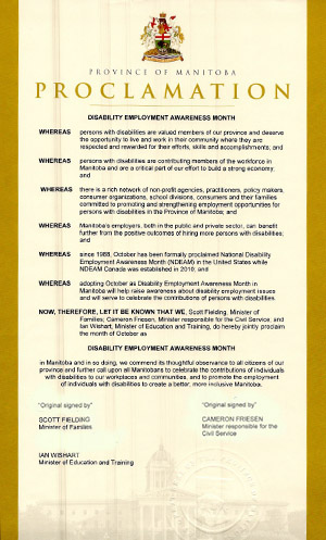 2014 Disability Employment Awareness Month Proclamation - English