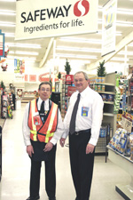 Darryl, together with Brent Severyn, Store Manager