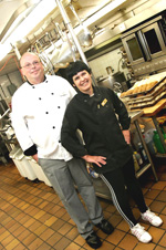 Chef Eldon Brink with Shirley