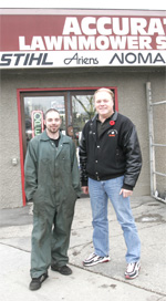 Trevor, together with John Neufeld (owner, Accurate Lawn & Garden)